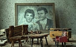 Picture macro, background, furniture