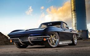 Picture Corvette, Chevrolet, and, 1964, Wheels, RS6, Kit, Forgeline, Flush-Loc