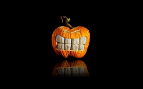 Picture holiday, teeth, pumpkin, heluin