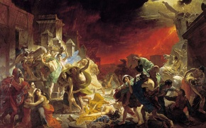 Wallpaper picture, The last day of Pompeii, Karl Briullov