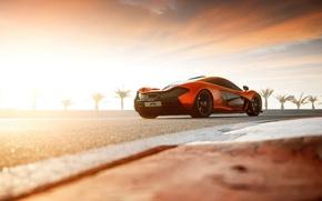 Picture clouds, back, supercar, McLaren, mclaren p1, bahrain