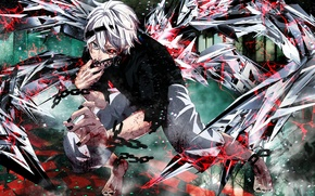 Picture chain, headband, guy, Tokyo ghoul, Tokyo Ghoul