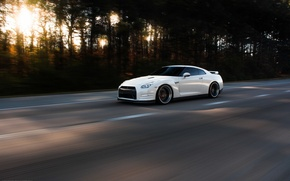 Picture nissan, white, japan, Nissan, jdm, gtr, power, speed, racing, gtr, r35, nismo