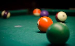 Picture table, balls, Billiards
