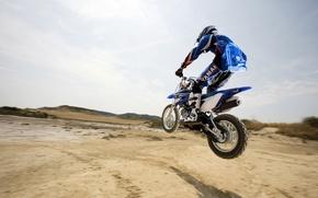 Wallpaper Motorsport, horizon, motorcycle, jump