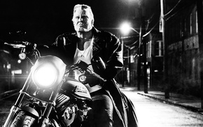 Picture white, black, Sin City, Harley Davidson, Mickey Rourke, A Dame To Kill For