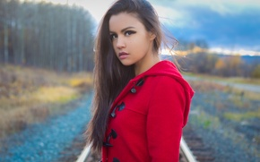 Picture look, railroad, girl, is, face, Shannon Baker