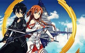 Wallpaper sword, sword art online, kirito, sword art online, sao, kirito, rapier, asuna, Asuna