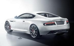 Picture Aston Martin, DB9, rear view, Aston Martin, ДБ9, Carbon White