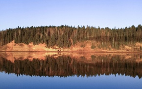 Picture landscape, nature, reflection, serenity, Forest, calm