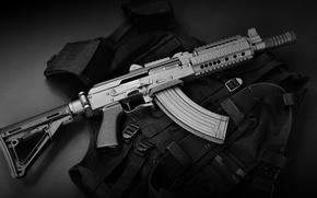 Picture weapons, machine, the vest, SBR AK