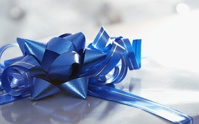 Picture blue, gift, mood, bow, holidays