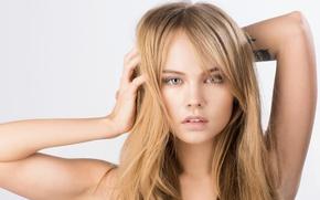 Wallpaper look, girl, face, sweetheart, model, hair, hands, blonde, beautiful, Rus, Anastasia Shcheglova, Anastasia Shcheglova