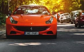 Picture Ferrari, Red, Car, serbia, Bokeh, belgrade