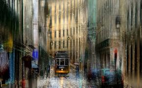 Picture drops, rain, Portugal, Lisbon