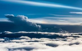 Picture the sky, landscape, nature, obloka