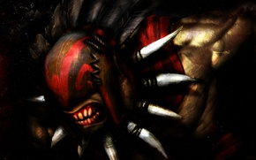 Picture mask, art, Bloodseeker, Dota 2, Strygwyr