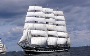 Picture photo, ships, Kruzenshtern, sailing