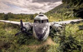 Picture aviation, the plane, scrap