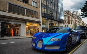 Picture blue, Bugatti, Veyron, Bugatti, chrome, Blue, Veyron, hypercar, Chrome