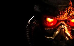 Wallpaper Killzone 3, mask, fire