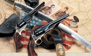 Picture Colt, Army, revolver, The civil war in the United States, .44-caliber, Model 1860, Guns Of …