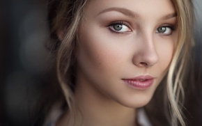 Picture look, girl, portrait, hairstyle, blonde, the beauty, young, Alice, beauty, bokeh, cute, green-eyed, natural light, …