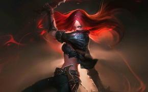 Wallpaper weapons, Katarina, League of Legends, art
