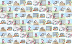 Picture mood, texture, art, Alex Dolotov, seals, children's, student, study