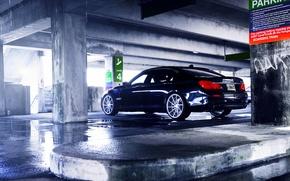 Picture BMW, wheels, Black, vossen, rearside, 750LI