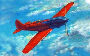 Picture I-17, experienced, art, Polikarpova N. N. 1934, Soviet, fighter, figure, OKB, multipurpose