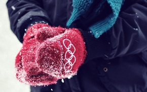 Wallpaper Olympic, Vancouver 2010, mittens, red