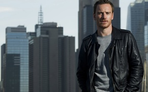 Picture the city, home, New York, jacket, actor, photoshoot, Michael Fassbender, Michael Fassbender, Charles Sykes