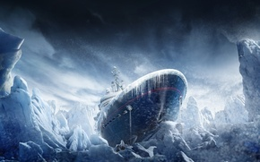 Picture snow, ship, icicles, ice, Blizzard, Tom Clancys, Operation Black Ice, Rainbow Six Siege