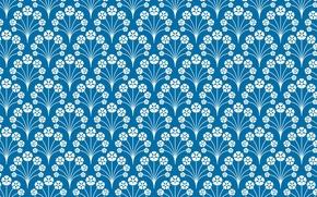 Wallpaper blue, pattern, ornament