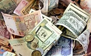 Wallpaper coins, paper money, paper notes