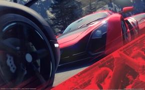 Picture road, trees, machine, reflection, cars, race, cars, racing, game wallpapers, Driveclub, Evolution Studios