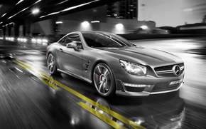 Picture street, Mercedes, in motion, mercedes sl 55 amg