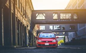 Picture red, volkswagen, red, Golf, golf, Volkswagen, MK6