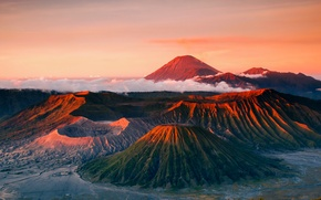 Wallpaper mountains, the volcano, Bromo, Indonesia, Java, Tanger