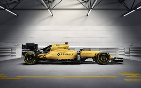 Picture yellow, yellow, The car, The French, Renault R.S.16