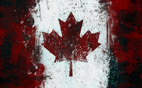 Picture flag, Canada, maple leaf