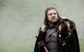 Picture people, sword, Ice, male, Lord, Sean Bean, Game of thrones, Game of thrones, eddard stark, ...