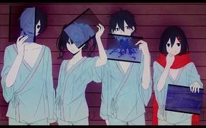 Picture smile, girls, anime, art, guys, konoha, kagerou project, ayano tateyama, ene, kisaragi shintaro, kokonose haruka, …