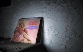 Picture background, vinyl, records