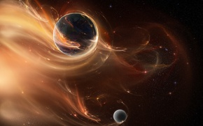 Picture stars, planet, Space