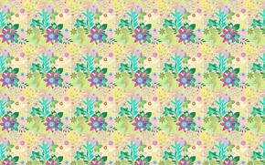Wallpaper flowers, pattern, bouquet