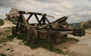 Picture machine, weapons, catapult, catapulta, «tormentum», throwing