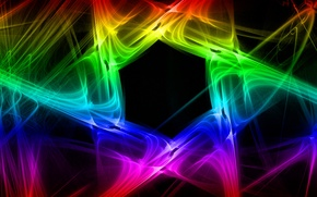 Picture light, pattern, smoke, color, gas, fractal, hexagon