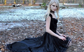 Picture Black Dress, Maria Amanda, Black Velvet, Stock